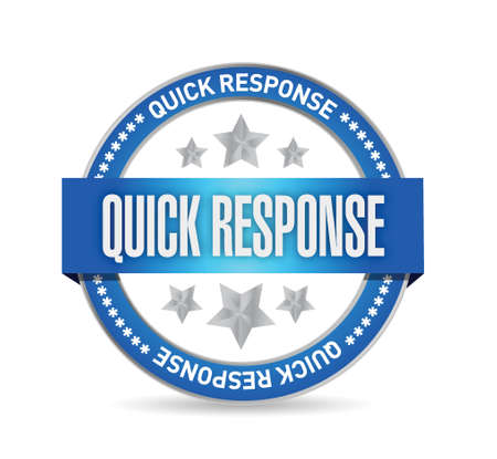 quick response: quick response seal illustration design over a white background