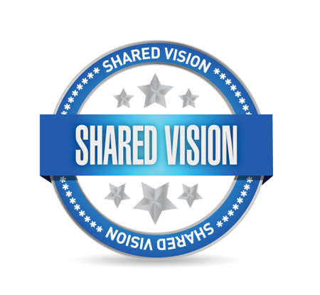 common vision: shared vision seal illustration design over a white background