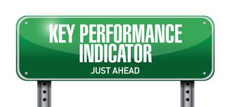 define: key performance indicator road sign illustration design over a white background Illustration