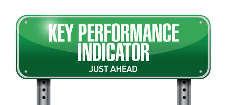 key performance indicator road sign illustration design over a white background 矢量图像