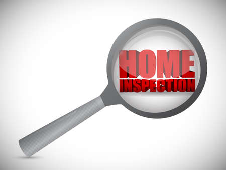 building inspector: home inspection review concept illustration design over a white background Stock Photo