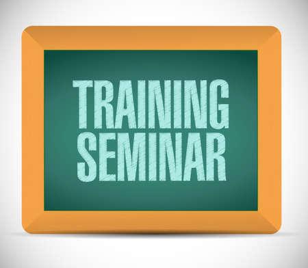 supervise: training seminar board sign illustration design over a white background