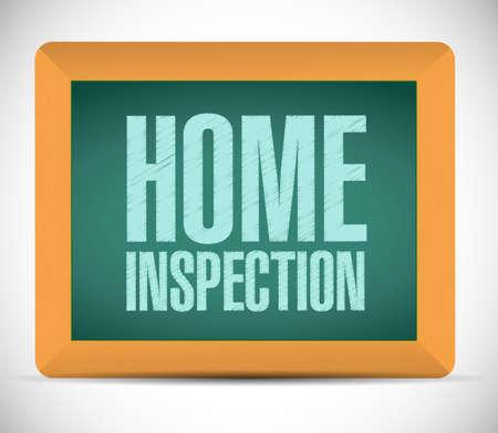 inspector: home inspection board sign illustration design over a white background