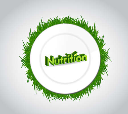subsistence: nutrition and food plate illustration design over a white background Stock Photo