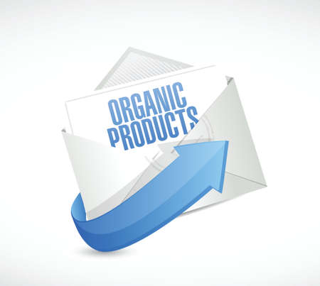 usda: organic product email illustration design over a white background