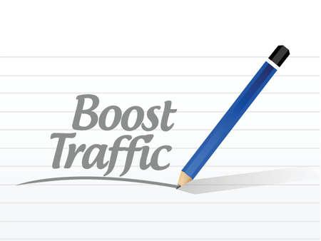 coup de pouce: stimuler message de trafic conception signe illustration sur un fond blanc