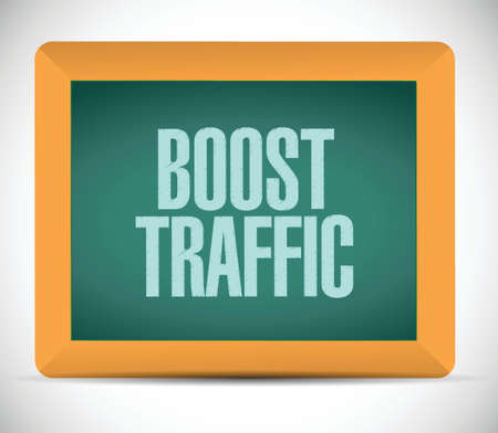 high speed internet: boost traffic board sign illustration design over a white background