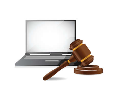 legal computer law concept illustration design over a white background