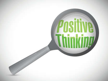 positive thinking under review illustration design over a white background Vector