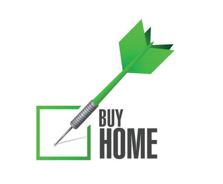 opt: home purchase selection check dart illustration design over a white background Illustration