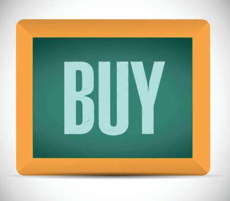 opt: buy board sign illustration design over a white background
