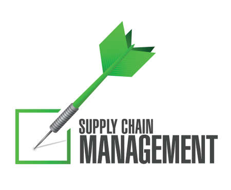 pr: supply chain management check dart illustration design over a white background Illustration
