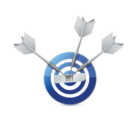 opt: buy target concept illustration design over a white background Illustration
