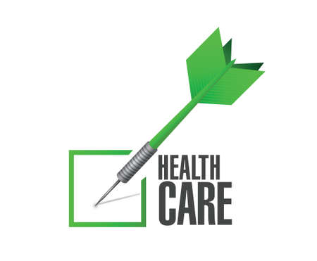 care: health care check approval dart illustration design over a white background Illustration