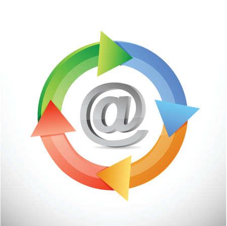 internet color cycle illustration design over a white background Illustration