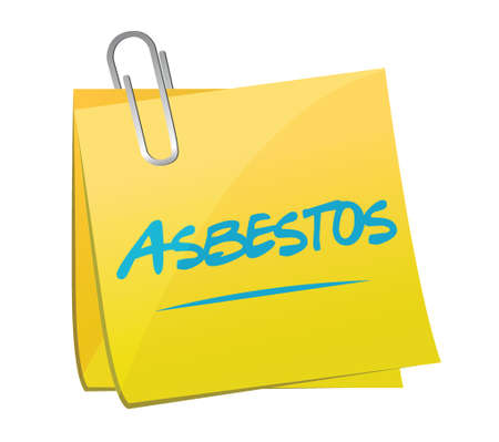asbestos: asbestos post memo illustration design over a white background Illustration