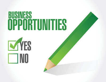 article marketing: business opportunities under review illustration design over a white background
