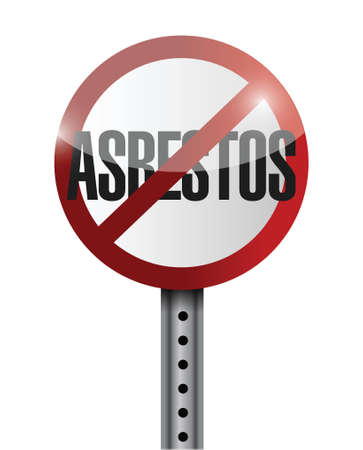 asbestos: no asbestos sign illustration design over a white background