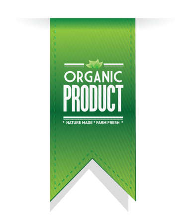 usda: organic product banner sign illustration design over a white background