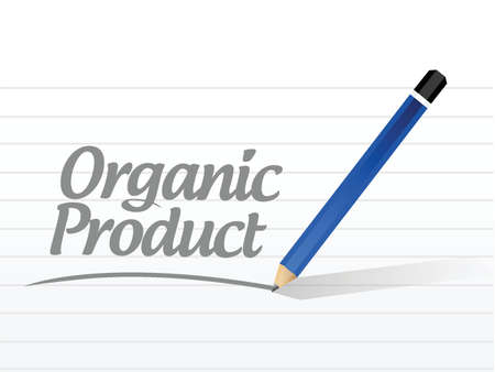 pesticide free: organic product message sign illustration design over a white background