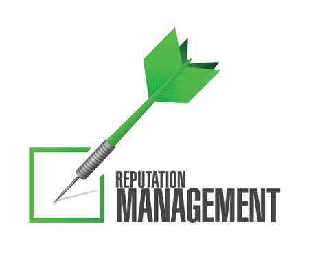 reputation: reputation management dart check mark illustration design over a white background