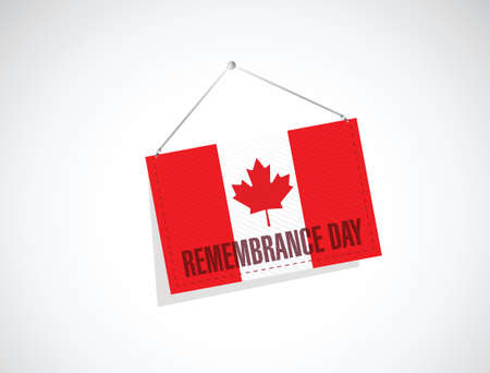 remembrance: canada remembrance day banner sign illustration design over a white background Illustration