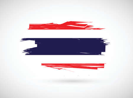 bad condition: thailand ink flag illustration design over a white background