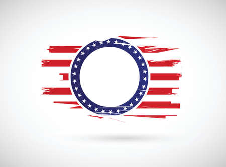 american history: old us history flag illustration design over a white background