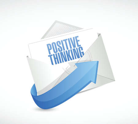 uplifting: positive thinking mail illustration design over a white background