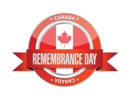 canada stamp: canada remembrance day seal illustration design over a white background