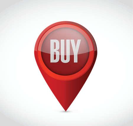 opt: buy pointer illustration design over a white background
