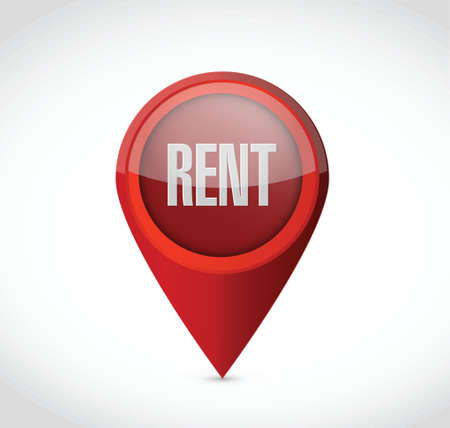 rent: rent pointer illustration design over a white background