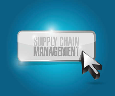 supply chain management button illustration design over a blue background Ilustração