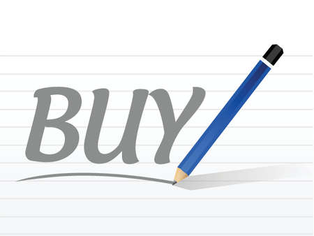 buying questions: buy message sign illustration design over a white background