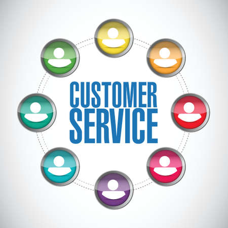quality service: customer service people diagram illustration design over a white background Illustration