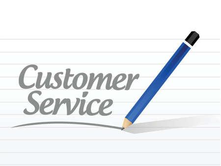 customer service message sign illustration design over a white background