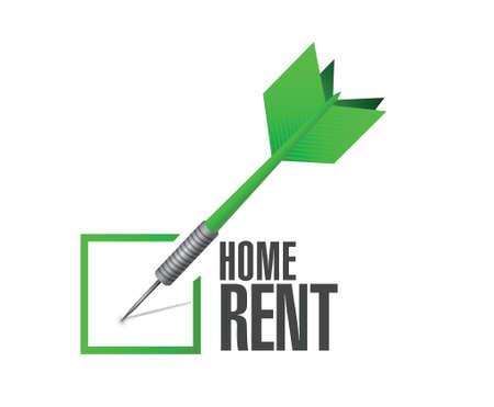 renting: home rental selection check dart illustration design over a white background Illustration