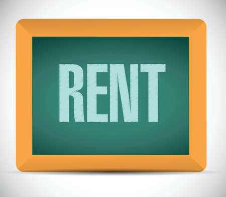 rent: rent board sign illustration design over a white background Illustration