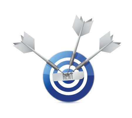 business for the middle: rent target concept illustration design over a white background Illustration