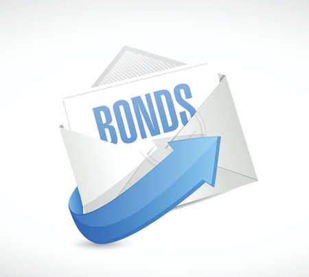 bonds: bonds email illustration design over a white background Illustration