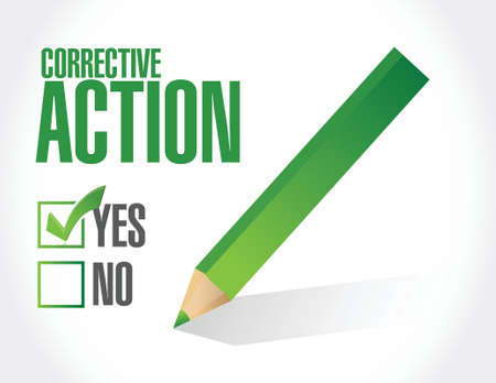 corrective action concept illustration design over a white background Illustration