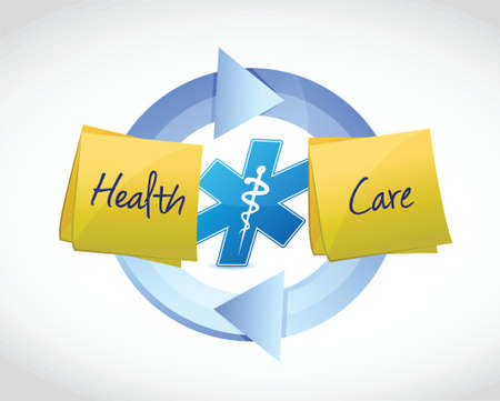 health care cycle concept illustration design over a white background