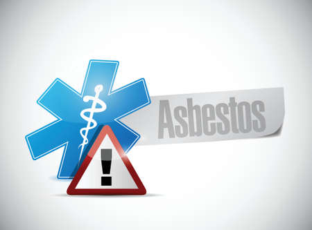 asbestos medical warning sign illustration design over a white background Illustration