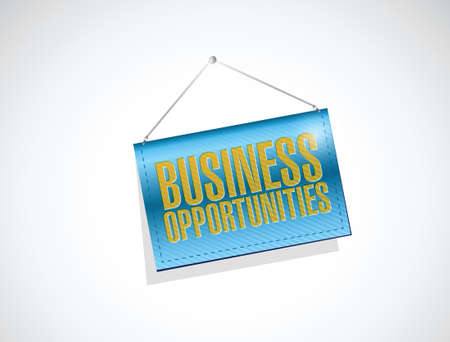 business opportunities banner sign illustration design over a white background