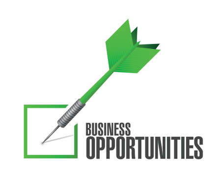 opportunity: business opportunities check review illustration design over a white background