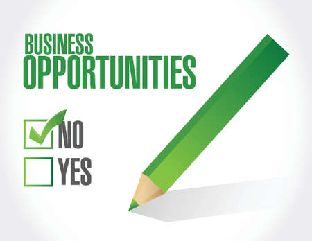 business opportunities under review illustration design over a white background