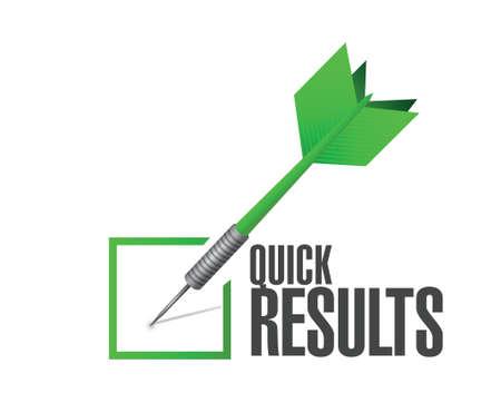 quick results check dart illustration design over a white background