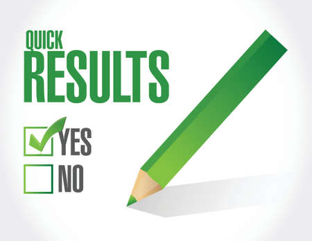 yes to quick results illustration design over a white background
