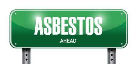 asbestos road sign illustration design over a white background Vector