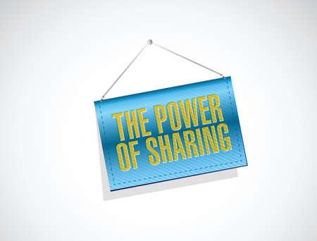 generosidad: el poder de compartir diseño ilustración de la bandera sobre un fondo blanco